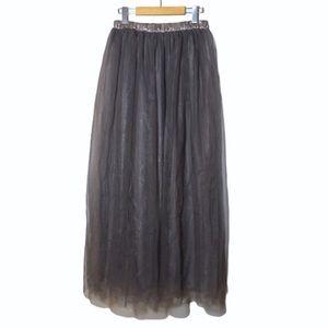 Handmade Tulle Crinoline Mauve Maxi Ball Skirt
